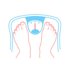concept of overweight vector image