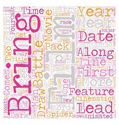 Recommended movie in text background wordcloud vector