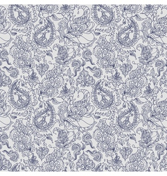 seamless texture with colorful paisley ornament vector image vector image