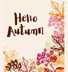 vintage autumn background vector image vector image