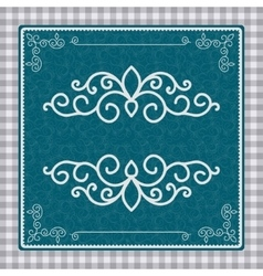 Vintage postcard with a beautiful pattern vector image vector image