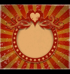 Romantic vintage background vector image vector image