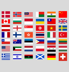 collection of flags of the world vector image