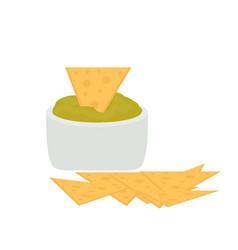 Nachos icon flat cartoon style isolated on white vector