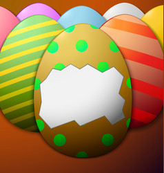Painted easter eggs without the shell in the vector