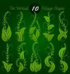 vertical foliage vector image vector image