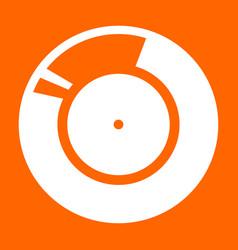 vinyl record retro sound carrier white icon vector image