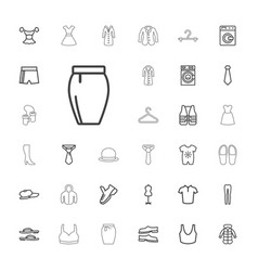 33 clothing icons vector