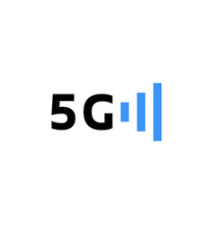 5g wireless logo like telecommunications vector image