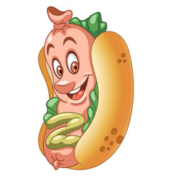 American hot dog vector