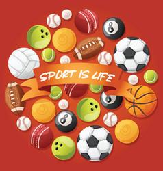 ball football basketball soccer baseball vector image