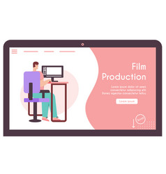 Banner film production concept vector