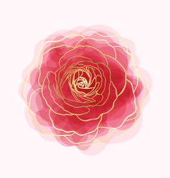 beautiful rose watercolor imitation hand-painted vector image