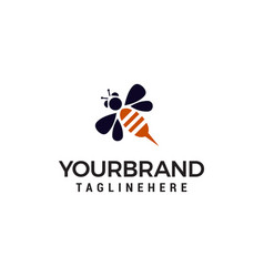 bee logo design concept template vector image