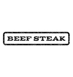 Beef steak watermark stamp vector
