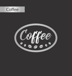 Black and white style icon of coffee logo vector