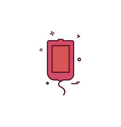 blood bottle icon design vector image