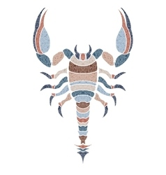 Bright scorpion zodiac Scorpio sign vector image vector image