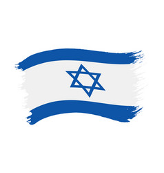 brushstroke painted flag israel vector image