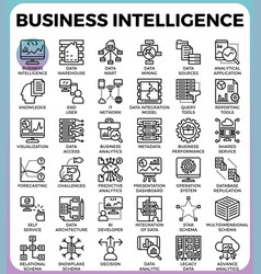Business intelligencebi concept icons vector