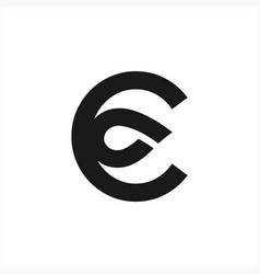 c cp co initials geometric circle for company logo vector image