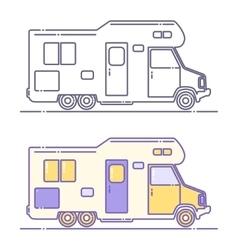 Camping cars vector