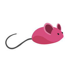 cat accessorie rubber mouse funny toy device vector image
