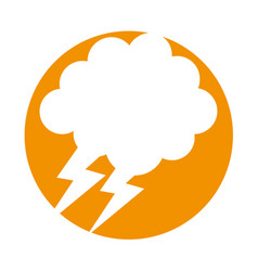 Cloud with thunder weather icon vector