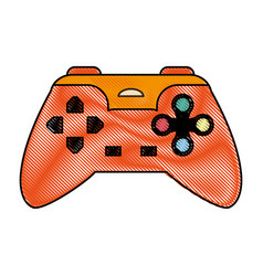 Color blurred stripe of control for video games vector