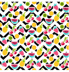 color fruits seamless pattern vector image