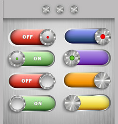color switch buttons vector image