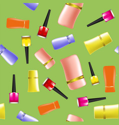 colored nail polsh seamless pattern vector image