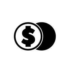 Crypto coin exchange digital money flat icon vector
