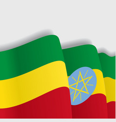 Ethiopian waving Flag vector