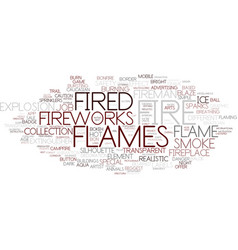 Fireplace word cloud concept vector