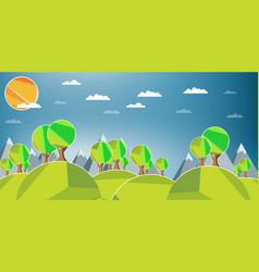 Flat design landscape vector