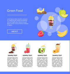 Flat smoothie landing page template vector