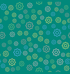 Gears seamless pattern background vector