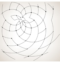 Geometric patterncurves and nodes vector image