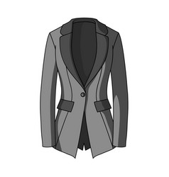 Grey women s jacket with pockets work austere vector