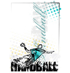 handball poster background vector image