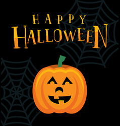 Happy halloween pumpkin jack o lantern vector
