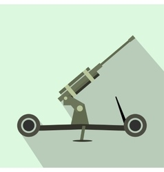 Howitzer artillery flat icon vector