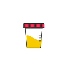 icon for urine test vector image