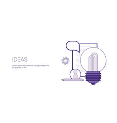 ideas lightbulb creative development concept vector image