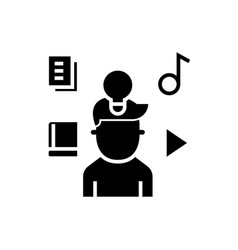 Intellectual property rights - marketing idea icon vector