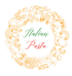 italian pasta or macaroni poster vector image