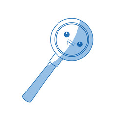 Kawaii magnifier search loupe discovery find zoom vector