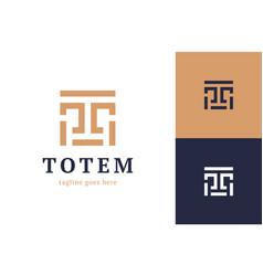 Letter t totem logo creative crest t logo vector