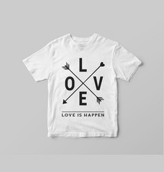 love t shirt design vector image